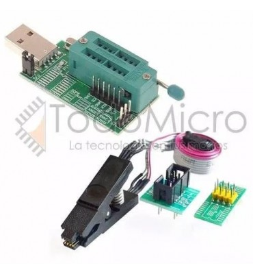 Combo Programador Usb Ch341a + Pinza + Cable. Bios Eeprom