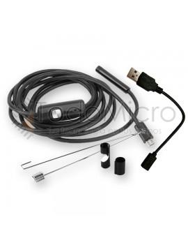 Boroscopio usb android PC led 1m 7mm endoscopio
