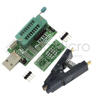 Combo Programador Usb Ch341a + Pinza Soic8