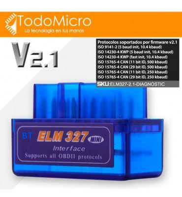Scanner automotriz bluetooth ELM327 ODB2 V2.1