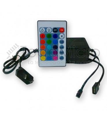 Controlador de 24 botones con fuente 12v 3a integrada
