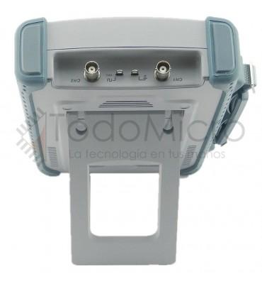 Osciloscopio portátil 200Mhz 2 canales pantalla