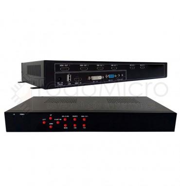 Procesador de VideoWall 3x2 2x3 AG-606 HDMI, DVI, VGA y USB