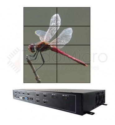 Procesador de VideoWall 2x4 4x2 AG-608 HDMI, DVI, VGA y USB