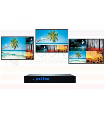 Procesador Multiview 4 a 1 1080p DVI / AV