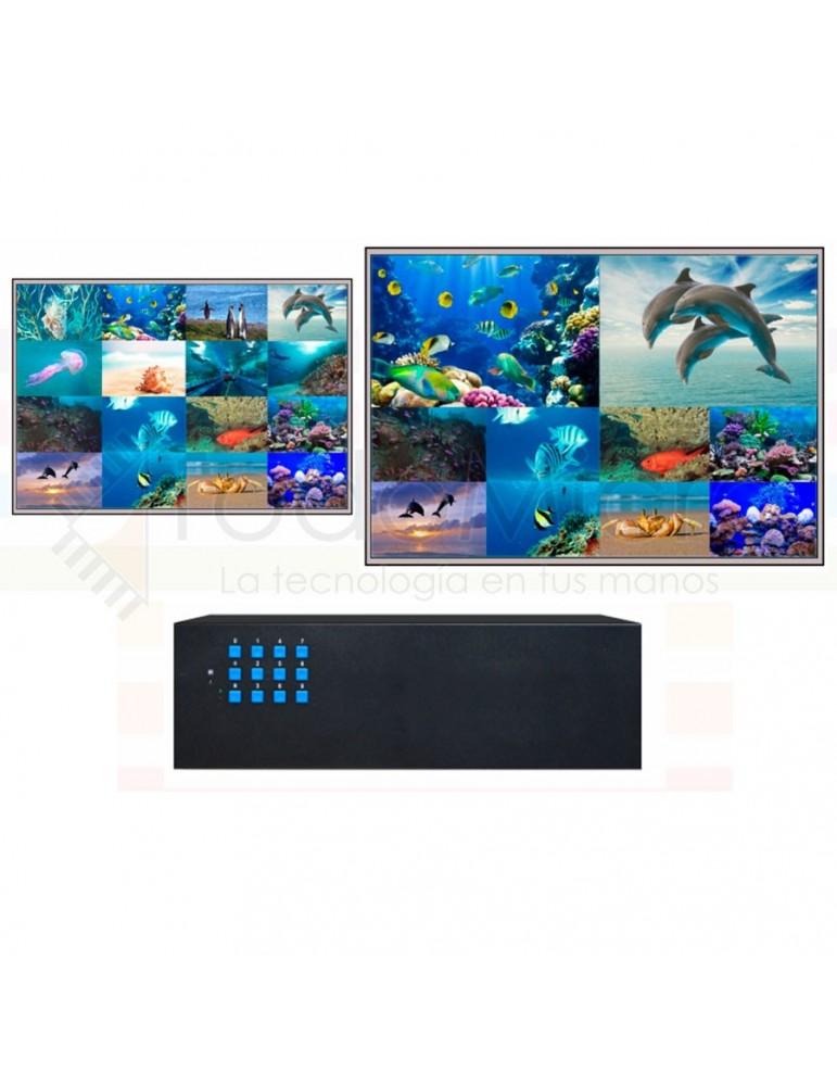 Procesador Multiview 16x1 1080p DVI / AV