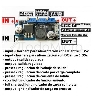 Regulador de voltaje LM2596S 1.3V-35V