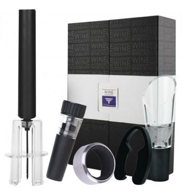 Set de 5 accesorios para vino con Destapador neumatico - Regalo empresarial