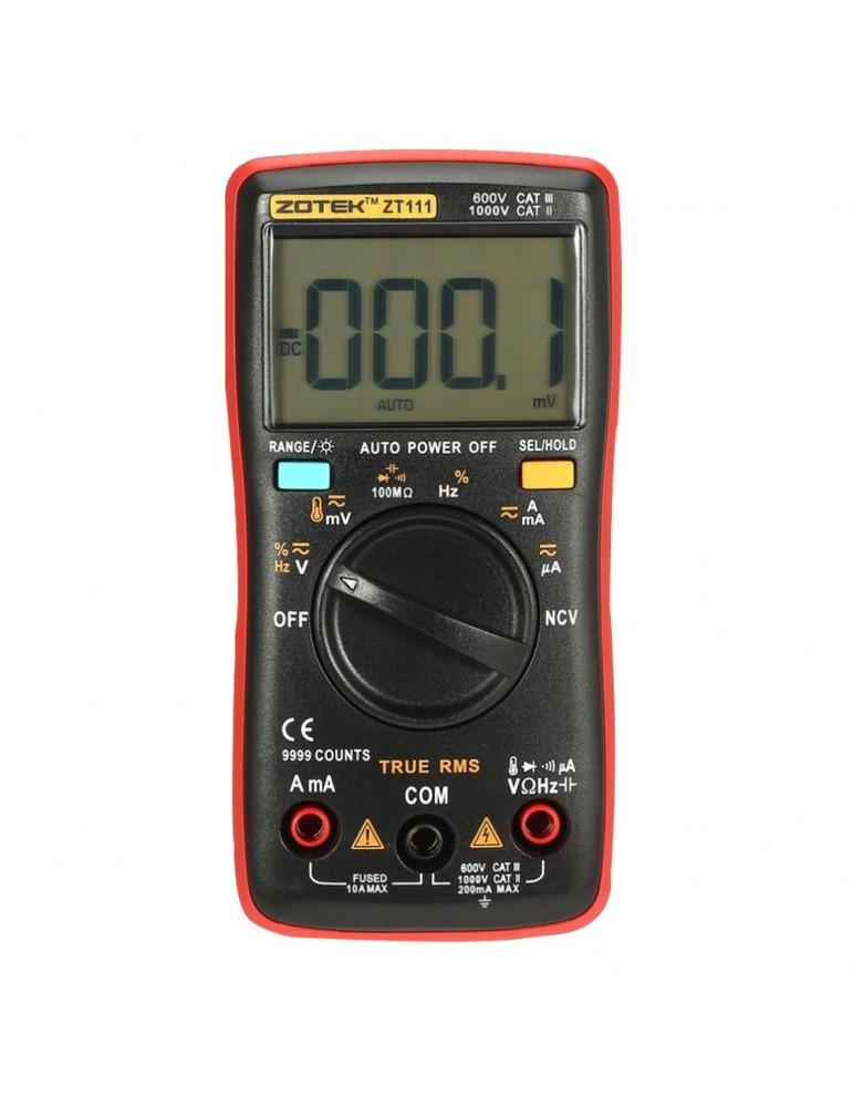 Multimetro digital autorango 9999 cuentas ZOTEK ZT111