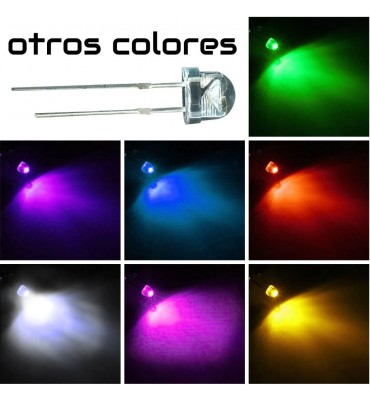 Led alta luminosidad bombin straw hat 5mm 100 unidades