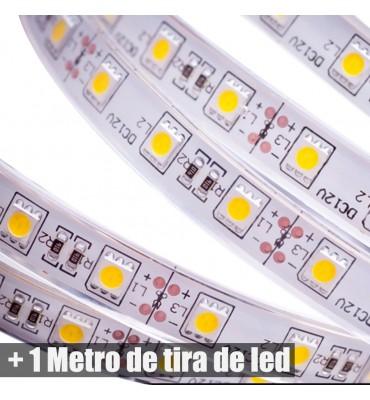 Metro Tira de led + fuente  12V+  encendedor