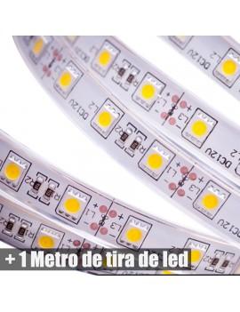 Metro Tira de led + fuente 12V + encendedor