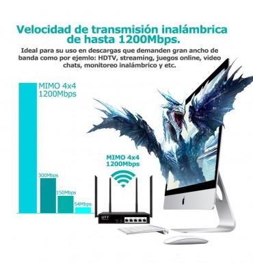 Router Wireless Dual WAN Gigbit Ethernet y VPN UTT AC1220GW