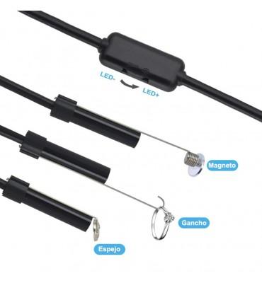 Boroscopio USB Semirrígido 5 mts 7mm