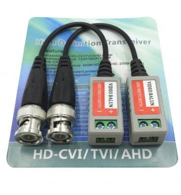 Balun pasivo par BNC hasta 300m HD AHD/HDCVI/HDTVI
