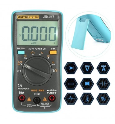 Multimetro Automatico digital Zotek ZT98