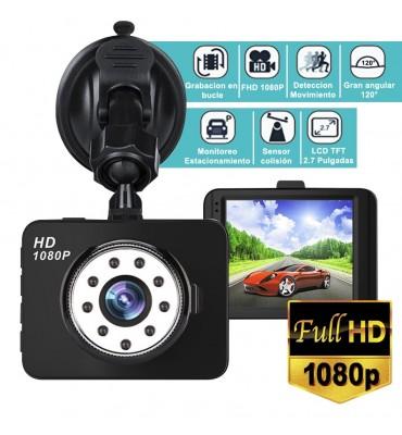 Camara para tablero de auto dashcam 1080p