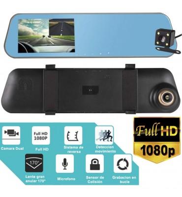 Camara Espejo Retrovisor Dual 1080P camara trasera