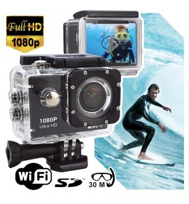 Camara deportiva sumergible fullHD 1080p con wifi