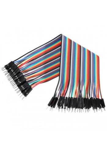 Cables macho-macho 20cm 40 unidades