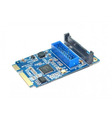 Adaptador de mini PCIExpres a conector USB3.0 19 pin