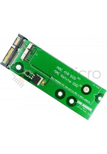 Adaptador SSD MAC PRO / MAC AIR 2012 a SATA (8 + 18)
