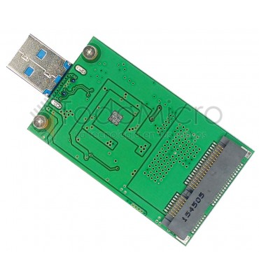 Adaptador SSD mini PCI-e mSATA a USB 3.0