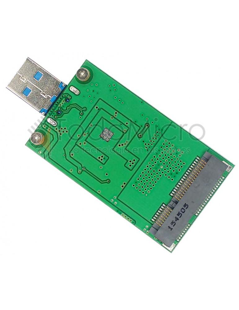 Adaptador SSD mini PCI-e mSATA a USB 3.0