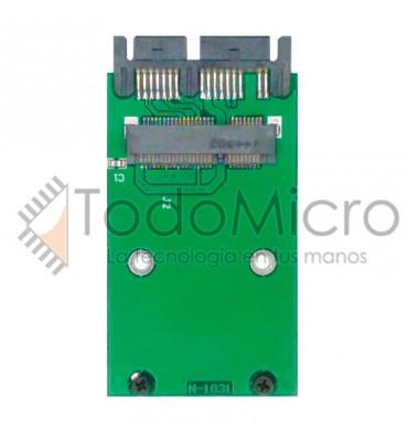 Adaptador mini pci-e mSATA SSD a 1,8 micro SATA