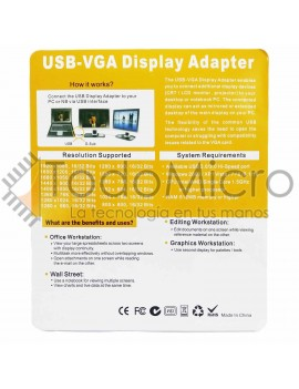 Conversor USB 2.0 a VGA