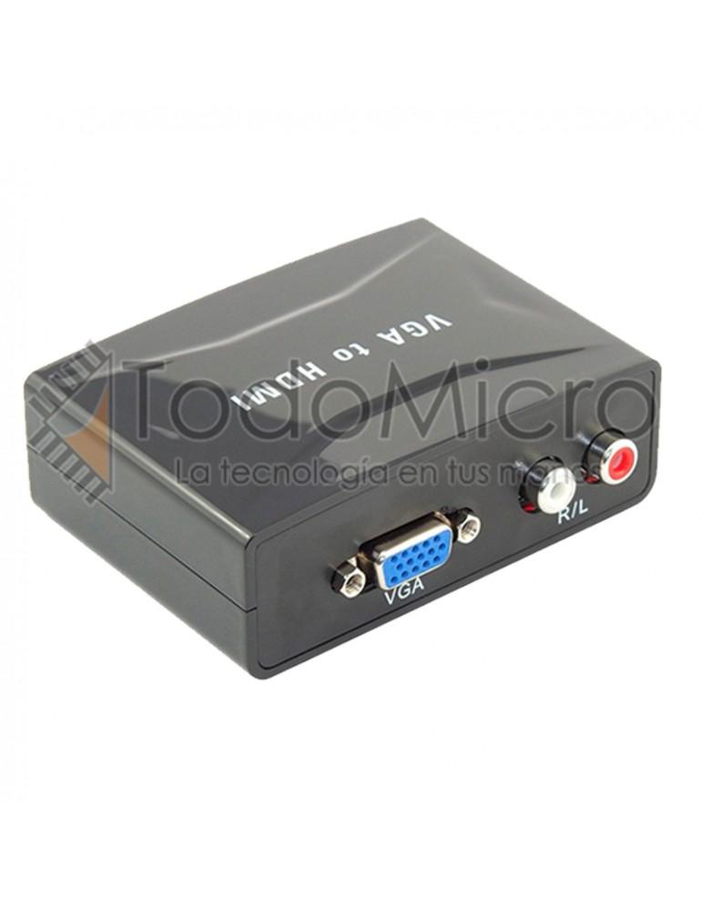 Conversor de video HDMI a VGA con alimentación externa