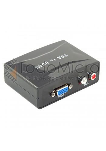 Conversor de video VGA a HDMI. Con alimentación externa.
