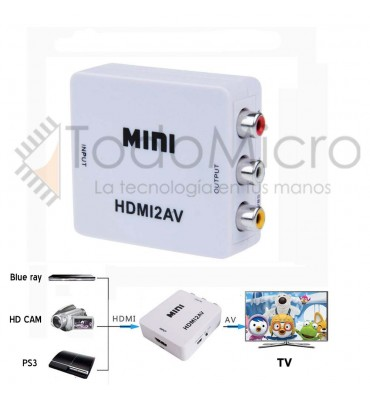 Conversor de video HDMI a RCA.