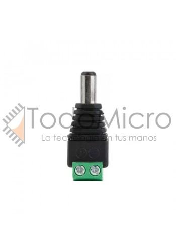 Adaptador tipo plug Macho 2.1x5.5 a bornera